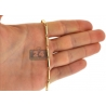 10K Yellow Gold Round Bar Link Mens Chain 3 mm