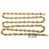 Real 10K Two Tone Gold Puffed Bullet Link Mens Chain 8.5 mm