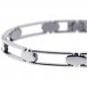 "Solid Stainless Steel Open Link Mens Wrist Bracelet 7mm 8.5"""