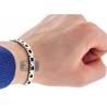 """Polished Stainless Steel Link Mens Wrist Bracelet 6mm 8.25"""""""