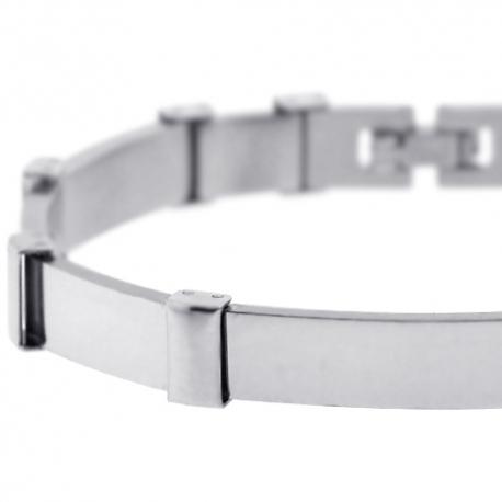"""Solid Stainless Steel Bar Link Mens Wrist Bracelet 9mm 8.25"""""""