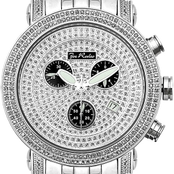 Mens Diamond Watch Joe Rodeo Classic JCL16 1.75 ct Silver