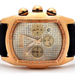 Mens Diamond Bubble Rose Gold Watch Joe Rodeo King JKI19 0.36 ct