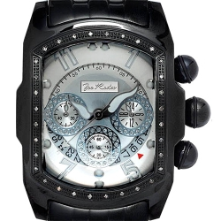 Mens Diamond Bubble Watch Joe Rodeo King JKI25 0.36 ct Black