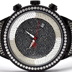 Mens Diamond Watch Joe Rodeo Master JJM25 2.65 ct All Black