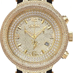 Joe Rodeo Master 6.50 ct Diamond Mens Gold Watch JJM69