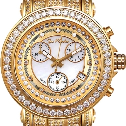 Womens Iced Out Diamond Gold Watch Joe Rodeo Rio JRO11 9.50 ct
