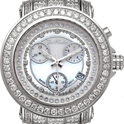 Womens Iced Out Diamond Silver Watch Joe Rodeo Rio JRO8 9.50 ct