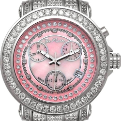 Womens Iced Out Diamond Pink Watch Joe Rodeo Rio JRO9 9.50 ct