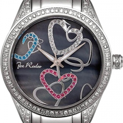 Womens Diamond Watch Joe Rodeo Secret Heart JRSH1 1.60 ct Black
