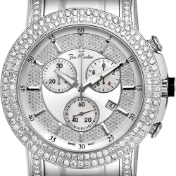 Mens Diamond Silver Watch Joe Rodeo Trooper JTRO3 6.00 ct