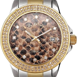 Womens Diamond Two Tone Watch Joe Rodeo Zibra JRZB2 1.25 ct