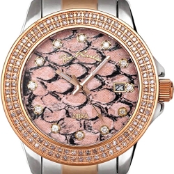 Womens Diamond Watch Joe Rodeo Zibra JRZB3 1.25 ct Two Tone