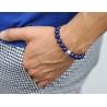 Platinum Celtic Bead Blue Lapis Lazuli Adjustable Bracelet Edus&Co