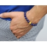 18K Yellow Gold Star Bead Lapis Lazuli Adjustable Bracelet Edus&Co