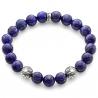Sterling Silver Star Bead Lapis Lazuli Adjustable Bracelet Edus&Co