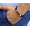 Sterling Silver Star Bead Black Onyx Adjustable Bracelet Edus&Co
