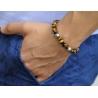 Sterling Silver Star Bead Tiger Eye Adjustable Bracelet Edus&Co
