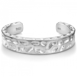Matte Silver Diamond Camouflage Mens Cuff Bracelet Edus&Co