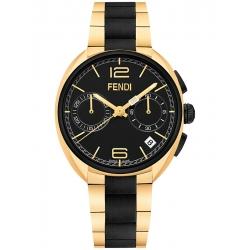 F219411000 Fendi Momento Black Yellow Steel Bracelet Watch