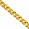 Yellow Sterling Silver Solid Franco Mens Chain 3.5 mm 24 30 36 inch