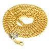 Yellow Sterling Silver Solid Franco Mens Chain 4 mm 26 30 36 inch
