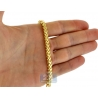 Yellow 925 Silver Solid Franco Mens Chain 4.5 mm 30 36 40 inches