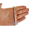 Sterling Silver Solid Franco Mens Chain 4.5 mm 30 36 40 inches