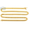 Yellow Sterling Silver Miami Cuban Mens Chain 6.8 mm 26 30 32 inch