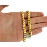 Yellow Sterling Silver Miami Cuban Mens Chain 7.2 mm 26 30 inch
