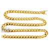 Yellow Gold Sterling Silver Miami Cuban Mens Chain 10mm 26 30""