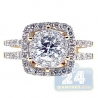 14K Yellow Gold 1.46 ct Diamond Womens Halo Engagement Ring