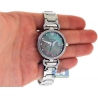 Womens Diamond Watch Aqua Master 0.3 ct Steel Black Dial