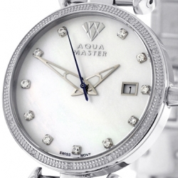Womens Diamond Watch Aqua Master 0.3 ct Silver