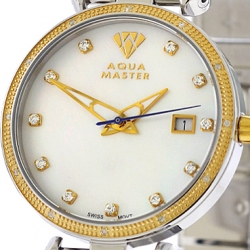 Womens Diamond Watch Aqua Master 0.3 ct Two Tone Steel