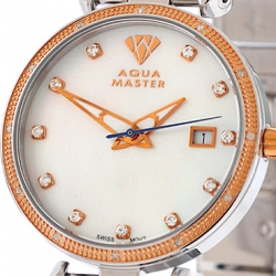 Womens Diamond Watch Aqua Master 0.3 ct Two Color