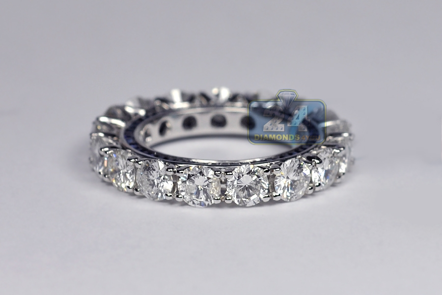 womens diamond blue sapphire gemstone eternity ring 18k gold. Black Bedroom Furniture Sets. Home Design Ideas