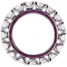 Womens Diamond Ruby Gemstone Eternity Ring 18K White Gold 6.95 ct