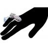 Womens Diamond Snake Double Ring 18K White Gold 4.31 ct