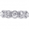 Womens Diamond Halo 5-Stone Ring 18K White Gold 2.00 ct