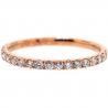 Womens Diamond Wedding Band 18K Rose Gold 0.35 ct 1.8 mm