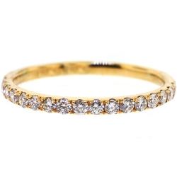 Womens Diamond Wedding Band Ring 18K Yellow Gold 035ct 18 mm