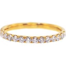 Womens Diamond Wedding Ring 18K Yellow Gold 0.46 ct 2 mm