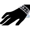 Womens Diamond Openwork Bracelet 14K White Gold 23.03 ct 7 inch