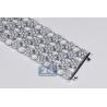 Womens Diamond Cluster Mesh Bracelet 14K White Gold 23.89 ct