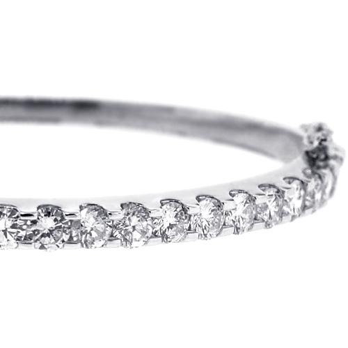 White Gold Cuff Bracelet: Womens Diamond Oval Bangle Bracelet 14K White Gold 4.18 Ct