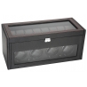 Quad Watch Winder Storage 34-704 Diplomat Modena Carbon Fiber