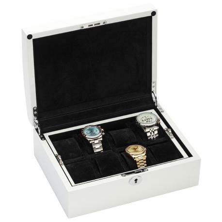 Eight Watch Box Storage 34-722 Diplomat Prestige White Wood