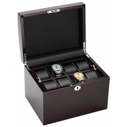 Sixteen Watch Box Storage 34-726 Diplomat Prestige Ebony Wood