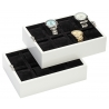 Sixteen Watch Box Storage 34-727 Diplomat Prestige White Wood
